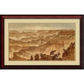 Grand Canyon-Panorama from Point Sublime' Framed Art Print 35x23-in